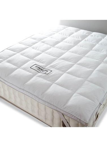 Penelope Piume Classic Kaz Tüyü Uyku Pedi Tek Kişilik 100x200 Beyaz